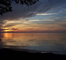 New York Lake Ontario Sunset Longest Night Of Summer by Heidi Snyder