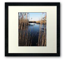 Wetlands At Low Tide Framed Print