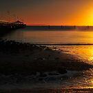 Shorncliffe Jetty at sunrise. Brisbane, Queensland, Australia. by Ralph de Zilva