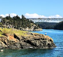 The Bridge and the Rock II by Rick Lawler