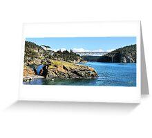 The Bridge and the Rock II Greeting Card