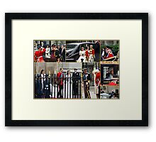 COLLAGE OF THE ROYAL WEDDING  Framed Print