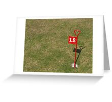 The Twelth Hole Greeting Card