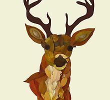 Deer in Autumn by Teo Zirinis