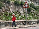 Live man walking by awefaul