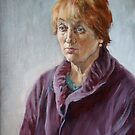 Portrait of my mother by Alla Melnichenko