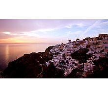 Oia Sunset - Santorini Photographic Print