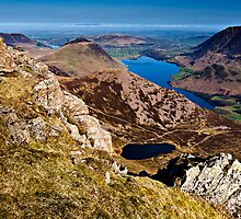 Bleaberry Tarn & Red Pike, Cumbria. UK by David Lewins