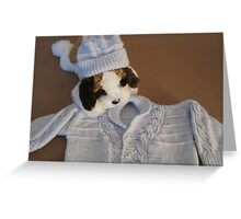 The Sweater Is Too Big!!! Greeting Card