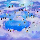 41 Penguins Having Fun! by murals2go