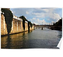 Fleuve La Seine, Paris, France Poster