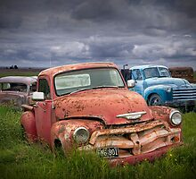 Auto Graveyard in the Rural Countryside by Randall Nyhof