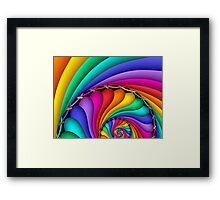 Rainbow Stitchery Framed Print