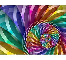 Metallic Spiral Rainbow Photographic Print