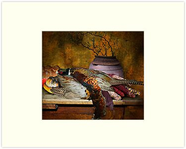 Still Life with Pheasants and Corn by Jeff Burgess