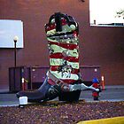 Cowboy boot, Cheyenne, Wyoming, USA by Margaret  Hyde