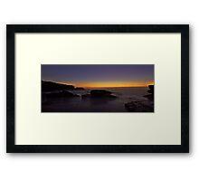 Misty Glow Framed Print