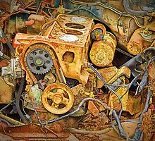 Photo of an Engine Block from a wrecked Auto by Randall Nyhof