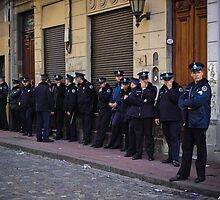 Police line up by liamcarroll
