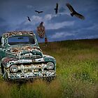 Abandoned Ford Truck with Vultures by Randall Nyhof