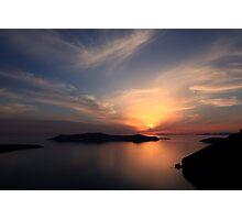 Santorini Drama - Thira, Santorini Photographic Print