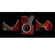 Guitar Triptych Photographic Print