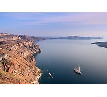 Santorini Caldera - Oia, Santorini Photographic Print
