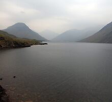 Wast water on a grey day by Paul  Green