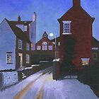 Midwinter twilight - Cliff Street, Whitby by Bridget March
