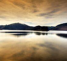 Evening at Llyn Clywedog, Powys, Wales by Bob Culshaw