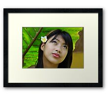 Portrait of a Shan girl, Thailand Framed Print
