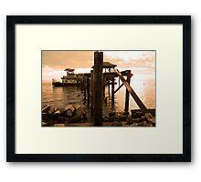 sailor take warning Framed Print