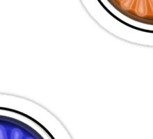 Two eyes in team Sticker