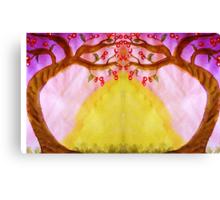 Mirror Fantasy Tree, mixed media Canvas Print
