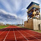 Stettler Track and Tower by Myron Watamaniuk