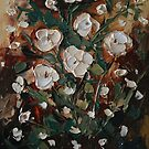 Floral Color Study I - Tapestry Series Palette Knife Painting by Trisha Lamoreaux