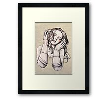 Feels Like the Wind Blows (b&w) Framed Print
