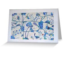 Secret Garden blue Greeting Card