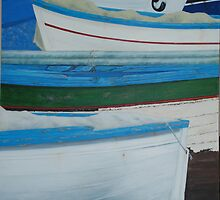 Rowed - Sorrento boats by Michelle Bailey