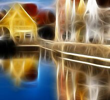 Special effects along the river colors and reflections by Francesco Malpensi