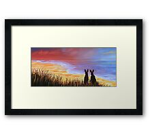 Hare Today Gone Tomorrow! Framed Print