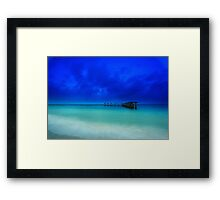 the old shipping pier Framed Print