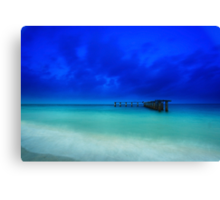 the old shipping pier Canvas Print