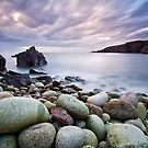 Pebble Beach at Sunset by GaryMcParland