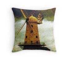 Llancayo Windmill, Usk, Wales Throw Pillow