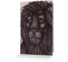 The Lion that Dreams Greeting Card