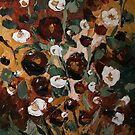 Floral Color Study II - Tapestry Series Palette Knife Painting by Trisha Lamoreaux
