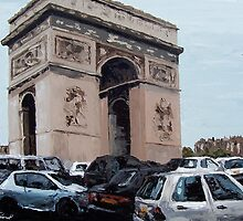 Paris Traffic by Trisha Lamoreaux