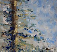Fir Tree Sky  by TerrillWelch