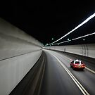 Hong Kong tunnel with taxi by Jodi Fleming